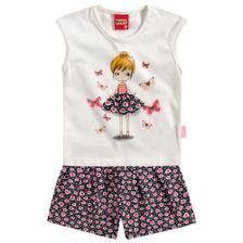 ddf611242e6a4c Conjunto Pijama Menina Repleto de Amor Verde - Kyly - Pijama ...