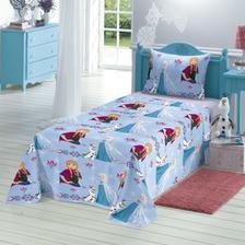 364a6586e0 Jogo de Cama Solteiro Estampado Frozen 3 peças Azul - LEPPER - Jogo ...