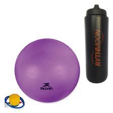 68b23fcb8 Bola Suíça Para Pilates 65 Cm Com Extensores - Liveup - Bolas ...