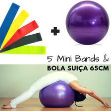 954502d954 Bola Suica 65 Cm e Mini Bomba + 2 Mini Bands + Faixa Elastica Media ...
