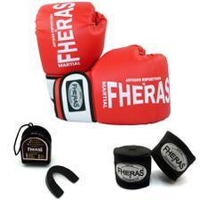09ee05ecc Kit Feminino rosa - Boxe   Muay Thai   Kickboxing - Luva 10 Oz + ...