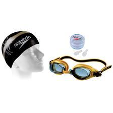 82740d77570cc Kit Natação Touca 3D Ultra + Óculos Cobra Ultra Mirror Preto Arena ...