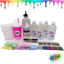 874e5b42205e0 Kit Para Fazer Slime Cola Branca E Transparente Borax Espuma Neve ...