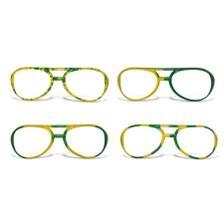 0bae5dcc37e22 Óculos Gatinha sem Lente Desenhado Plástico Verde e Amarelo 12 ...