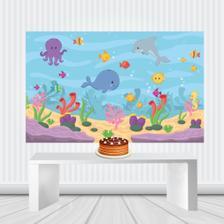 Painel Decorativo Fundo Do Mar Duster Festabox Painel De Festas