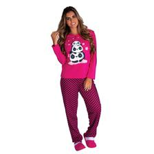 d4182f83e7 Pijama feminino inverno frio longo gestante mamãe roupa dormir ...
