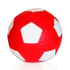 2f3a8a82ae Puff Bola de Futebol Infantil - Vermelho  Branco - Stay puff - Puffs ...