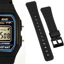 9b0faa4ce59 Pulseira de Borracha para Relógio Aqua Aq37 Preta - Oficina dos ...