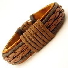 Pulseira couro unissex festa do peão de barretos marrom brown ... 3a72a10e8aa9a
