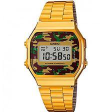 ed17d7f6d0f Relógio Casio Vintage Espelhado Preto Unissex A168WEM-1DF - Relógio ...