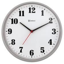 19351a55cbd Relógio de parede analógico moderno metalizado mecanismo step herweg ...