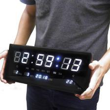 32c2d14c1c1 Relogio digital led de parede com calendario termometro medidor de ...