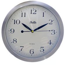 0d9612d31b6 Relógio de parede redondo moderno analógico alumínio fundo herweg ...