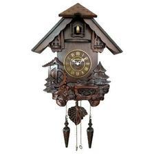 b56800bc6a5 Relogio cuco musical em madeira retro com pendulo e sensor noturo ...