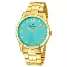 3c1eb1f7663 Relógio de Pulso Champion Feminino Kit com Brinco e Corrente ...