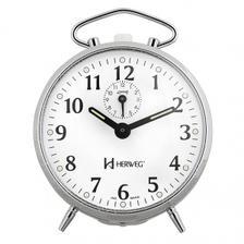ca6b5417830 Relógio despertador analógico decorativo quartz mecanismo step ...