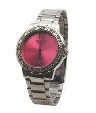 54e33fc5339 Relogio feminino atlantis g3471 dourado fundo azul - Relógio ...
