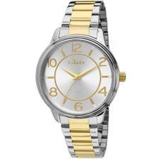 05f399ffd46 Relógio Feminino Backer Analógico 10249134F Prata Dourado - Relógio ...