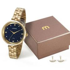 a43a3f15b83 Relógio Mondaine Feminino Analógico Dourado 76615LPMVDE2 - Relógio ...