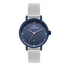292f93711ba Relógio Feminino Technos Trend 2036MJH 5A 36mm Aço Azul - Relógio ...