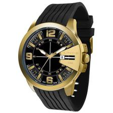 4d90349165d Relógio Masculino Analógico Winner Dourado Esqueleto Cromado ...