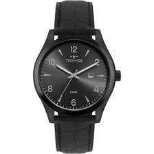 f701208cf46 Relógio Masculino Technos Steel 2115MOU 2P 43mm Couro Fumê - Relógio ...
