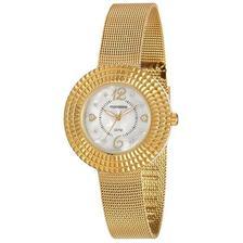 46146a0a488 Relógio Feminino Mondaine 53541LPMVDE1 28mm Aço Dourado - Relógio ...