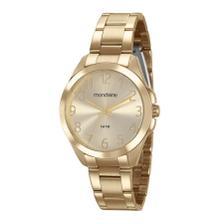 cca25ee52fc Relógio Feminino Dourado Visor Madrepérola Pedras 83385LPMVDE1 ...