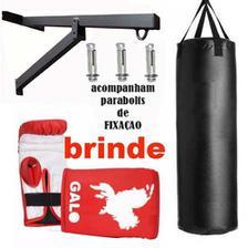 41dc789867da9 Kit Luva Bate Saco Boxe Muay Thai Neoprene Everlast + Squeeze ...