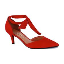 b9ec24322 Sapato Feminino Scarpin Salto Baixo Vizzano - 1122628 VERMELHO ...