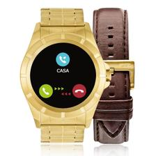 498f3c5596f Relógio Unissex Technos Connect Smartwatch Srae 4P Dourado ...