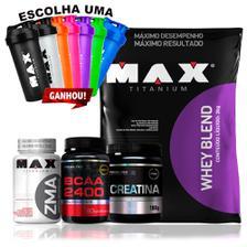 ac3c515f9 Kit Completo Definição Top Whey Protein Creatina Zma Glutami - Max ...