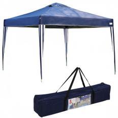 Tenda Gazebo 3x3 Mts Dobravel Articulada X-flex Azul Praia Camping  Mor