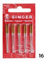 10 Agulhas Singer Para Máquinas Domesticas 2045 Nº16 Jeans
