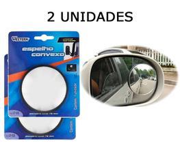 2 Espelho Redondo Grande Convexo Adesivo Retrovisor de Carro
