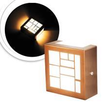 3 Arandelas Luminária Loy Cobre Para Parede Interna E Extern