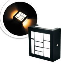 3 Arandelas Luminária Loy Preta Para Parede Interna E Extern
