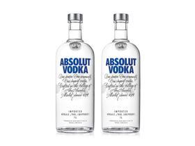 Absolut Vodka Original Sueca 1L - 2 Unidades