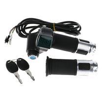 Acelerador Universal com chave e indicador LCD