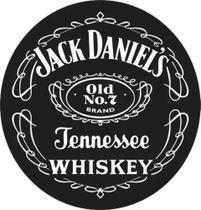 Adesivo 50x50cm Redondo Recorte Jack Daniels Tambor