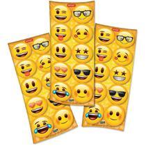Adesivo Redondo Emoji - 30 unidades
