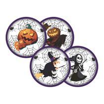 Adesivo Redondo Halloween - 16 unidades