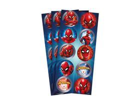 Adesivo Redondo Homem Aranha