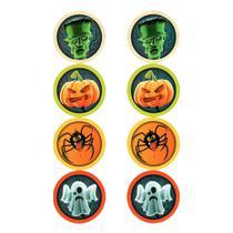 Adesivo Redondo para Lembrancinha Halloween - 16 Unidades