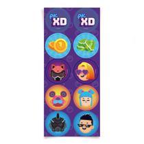 Adesivo Redondo PK XD Figurinhas - 30 Un