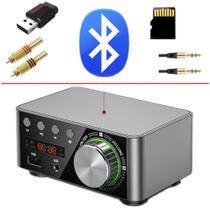 Amplificador de Som Bluetooth 5.0 USB Pendrive Som Ambiente