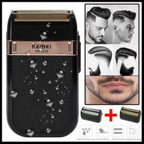 Aparelho de barbear Kemei shaver acabamento de barba e cabelo bivolt