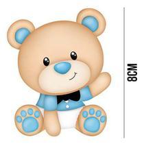 Aplique de MDF e Papel - Urso Baby APM8 - 886