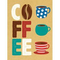 Aplique Decoupage Litoarte APM8-1124 em Papel e MDF 8cm Coffee