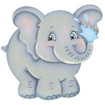 Aplique MDF e Papel Litoarte 8 cm - Modelo APM8-812 Elefante